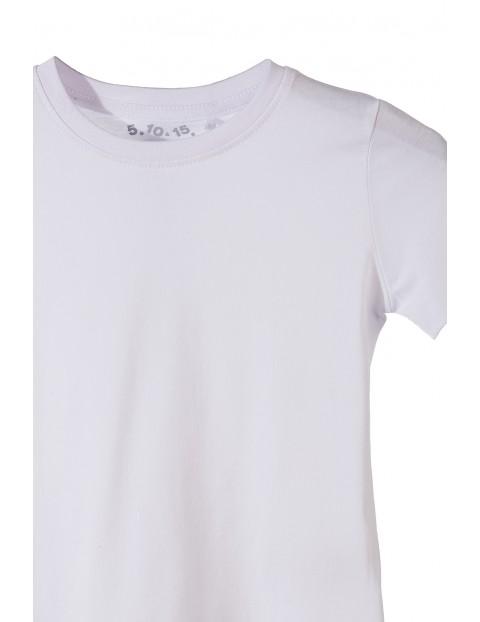 T-shirt chłopięcy biały gładki