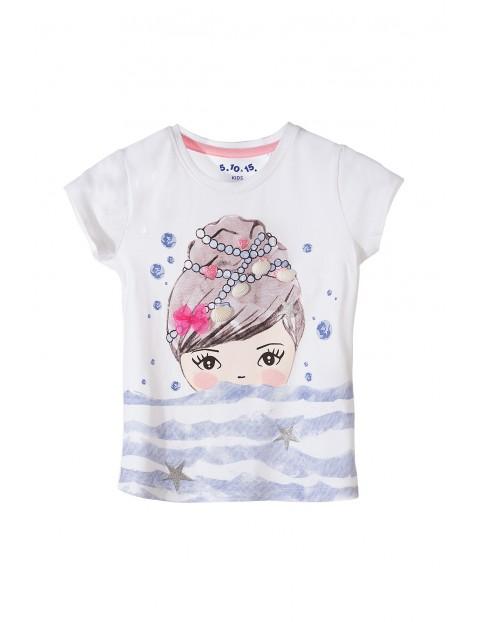 Koszulka dziewczęca z muszelkami