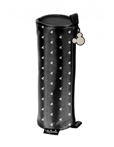 Czarny piórnik tuba Myszka Minnie