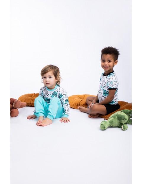 Piżama chłopięca bluzka i spodnie z dinozaurami