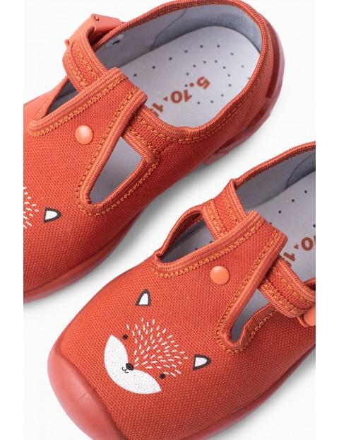 Buty dla dziecka - pomarańczowe z liskiem