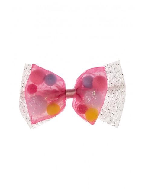 Spinka do włosów- różowa kokardka