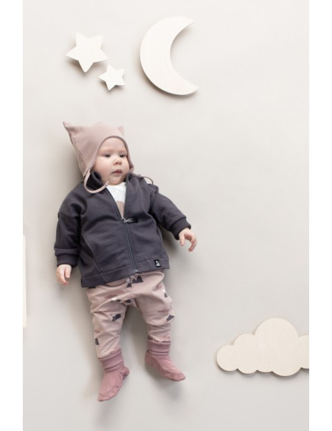 Bluza niemowlęca rozpinana Dreamer grafitowa