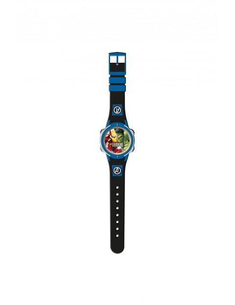 Zegarek cyfrowy ze światełkami LED Avengers