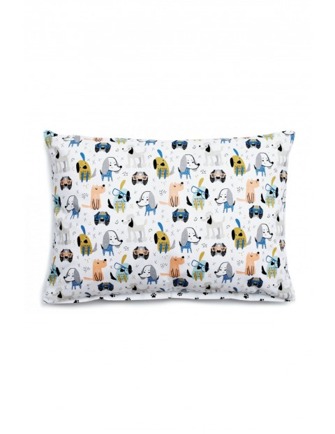 Poszewka bawełniana na poduszkę- Pieski 40x60cm