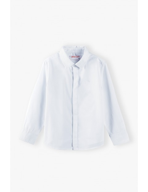 Koszula chłopięca biała z długim rękawem-ubrania na specjalne okazje