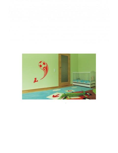 Naklejka welurowa Chłopiec z piłką