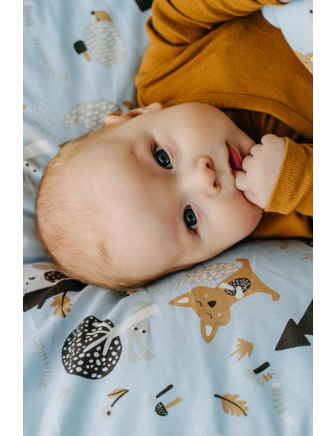 Komplet pościeli bawełnianej dla dzieci- Lazurowy Las 100 x135cm