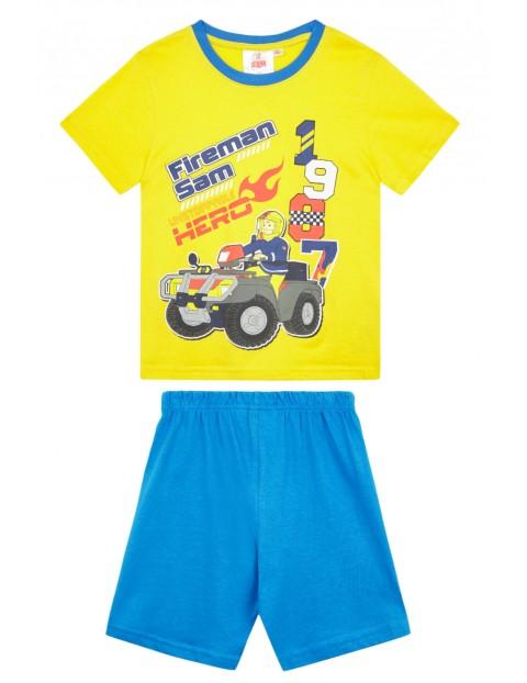 Piżama chłopięca Strażak Sam- spodenki i koszulka