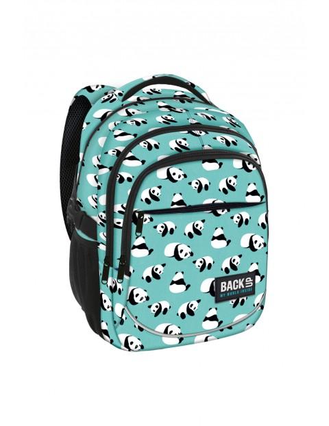 Plecak dziewczęcy 3komorowy w pandy