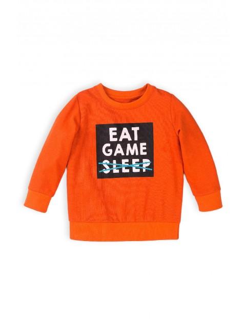 Bluza dresowa chłopięca pomarańczowa