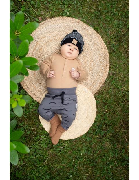 Bawełniane kapcie niemowlęce - brązowe