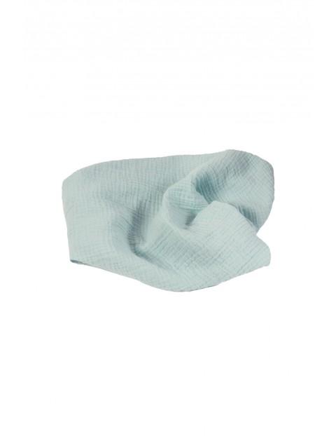 Otulacz muślinowy niebieski - 100% bawełna, roz. 80x120cm
