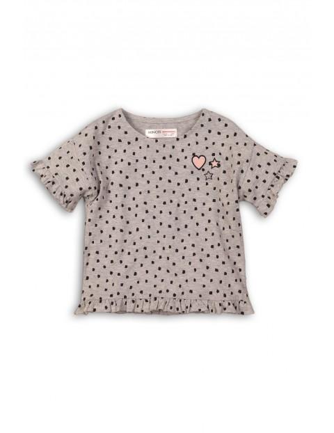 T-shirt dla niemowlaka z ozdobnymi falbankami