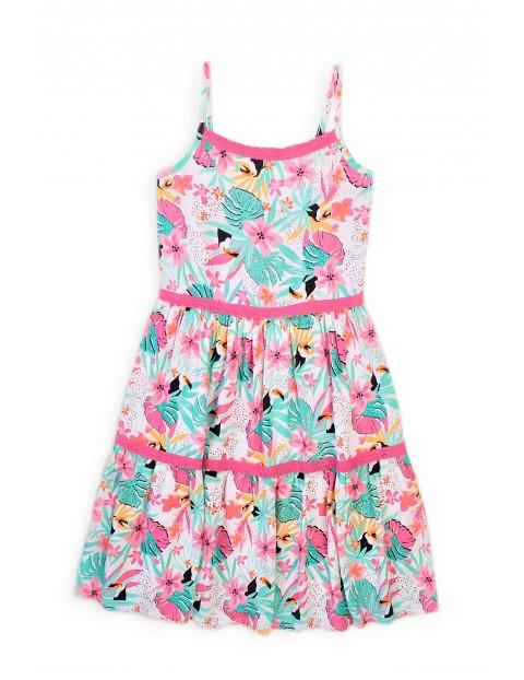 Sukienka dziewczęca z letnim wzorem