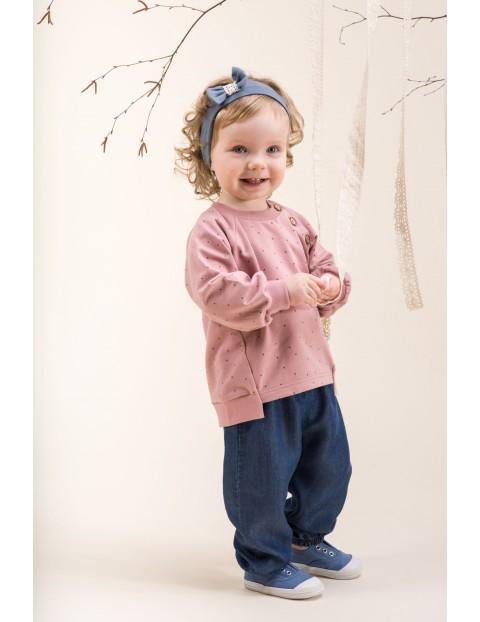 Bluza różowa z guzikami Petit Lou