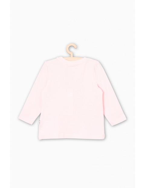 Bluzka dzianinowa z długim rękawem- różowa