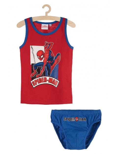 Chłopięcy komplet bieliźniany majtki i koszulka na ramiączkach Spiderman rozm 140