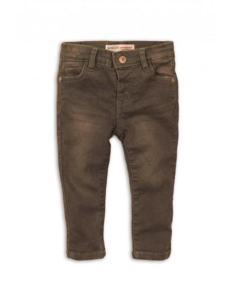 Spodniej jeansowe dziewczęce brązowe