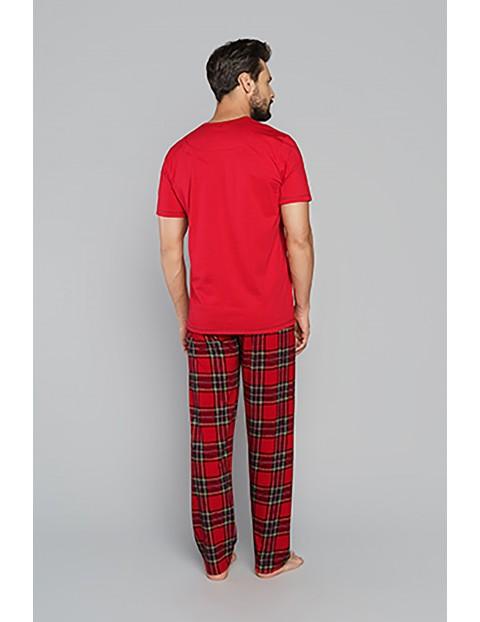 Bawełniana piżama męska z krótkim rękawem