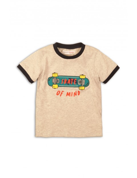 T-shirt chłopięcy ecru Skate