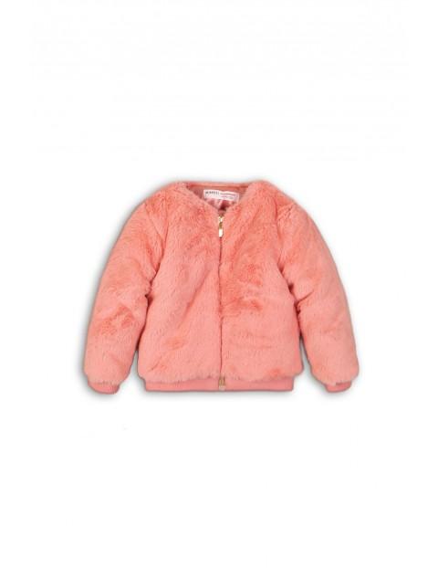 Kurtka dziewczęca różowa- futerko