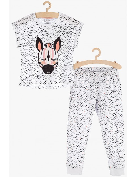 Pidżama dziewczęca bawełniana - Zebra