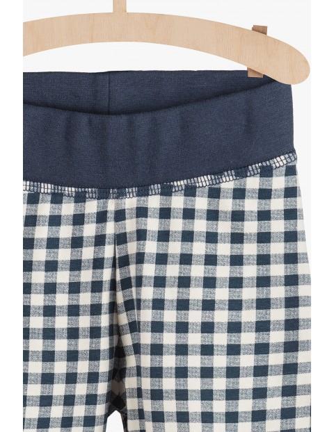 Spodnie dzianinowe w kratkę
