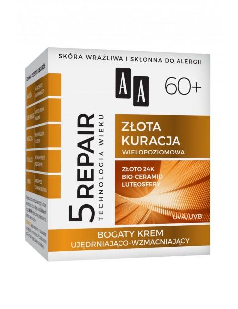 AA Technologia Wieku 5Repair 60+ Złota kuracja bogaty krem twarz szyja dekolt 50 ml
