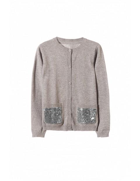 Sweter dziewczęcy 4C3506