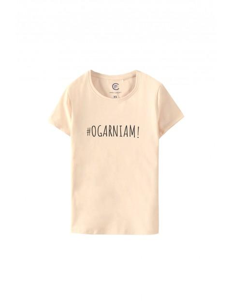 T-shirt damski z napisem #Ogarniam!