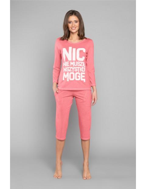 Dwuczęściowa piżama damska w kolorze malinowym