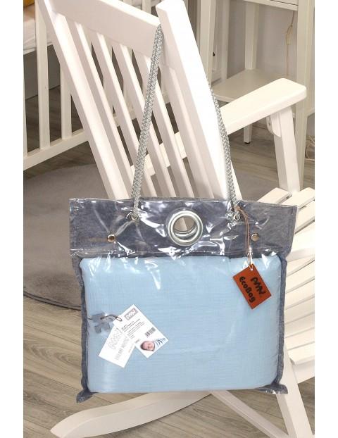 Niebieska pościel 2-elementowa do łóżeczka, 135x100cm + 60x40cm