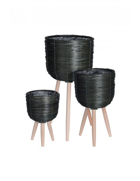 Zestaw 3 donic na trzech nogach - czarne