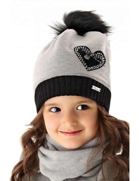 Czapka dziewczęca na zimę 3X35AN