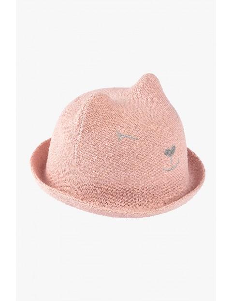 Kapelusz różowy- kot