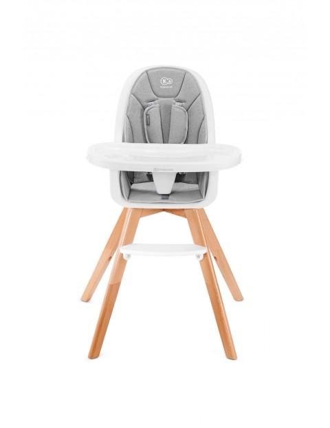 Krzesełko do karmienia 2w1 Tixie szary Kinderkraft 6msc- 5lat