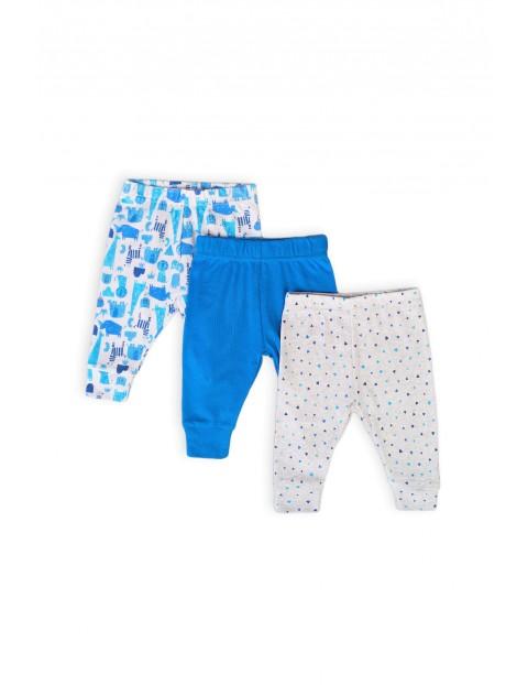 Bawełniany komplet spodni niemowlęcych - 3pak