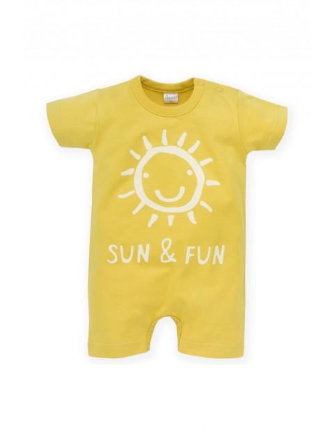 Rampers niemowlęcy żółty Sun&Fun