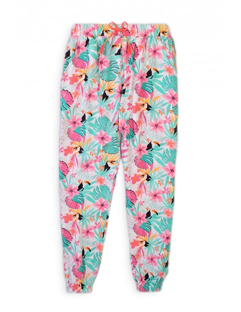 Spodnie dziewczęce z wiskozy