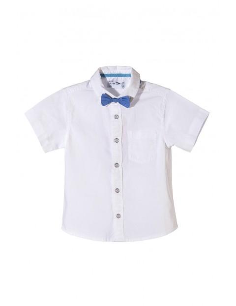 Koszula chłopięca biała z muszką
