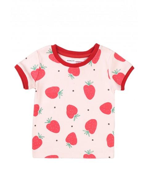 Piżama niemowlęca w truskawki