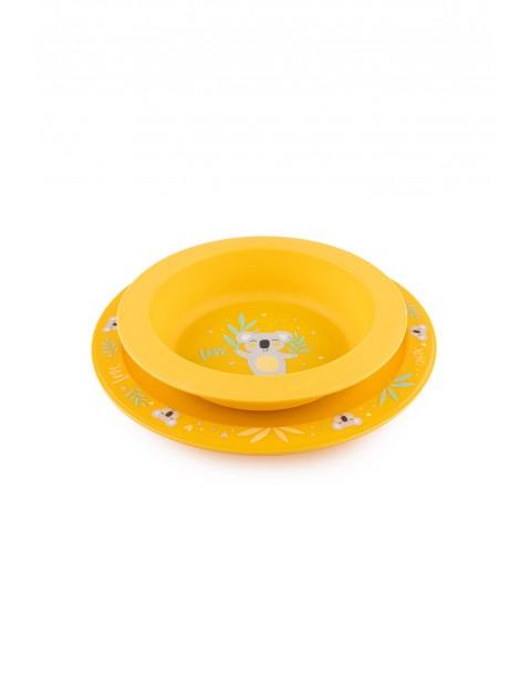Canpol babies zestaw naczyń  EXOTIC ANIMALS - 2 elementy - żółty