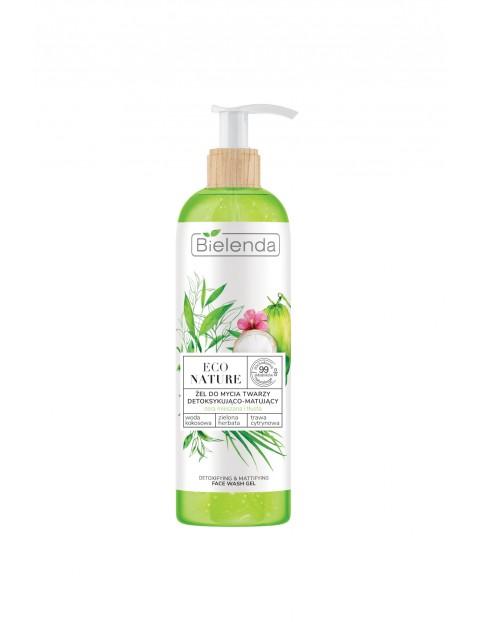 ECO NATURE - Woda kokosowa + Zielona Herbata + Trawa Cytrynowa - żel do mycia twarzy detoksykująco-matujący 200 g