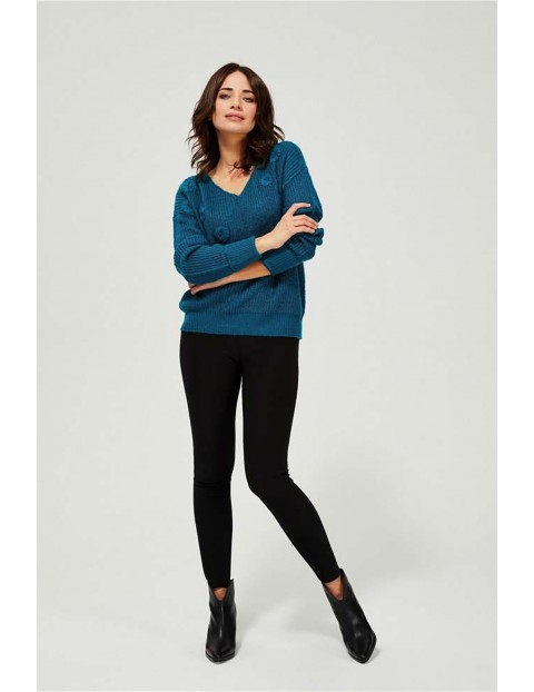 Sweter damski - niebieski