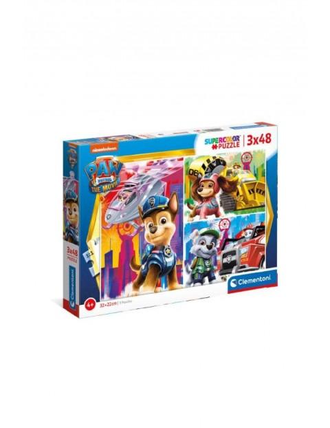 Puzzle super kolor Psi Patrol - 3 x 48  elementy wiek 4+