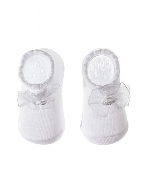 Skarpety niemowlęce białe