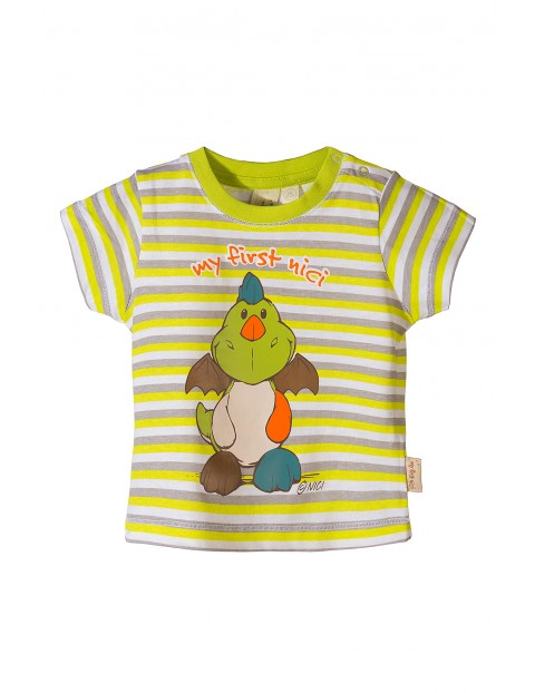 Koszulka niemowlęca w paski Nici- dino