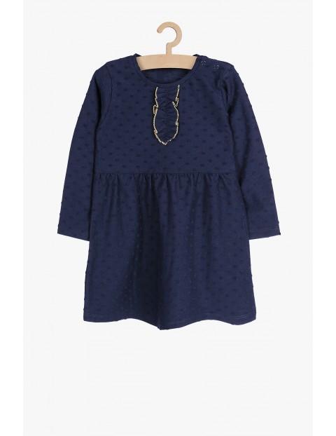 Elegancka granatowa sukienka dla dziewczynki