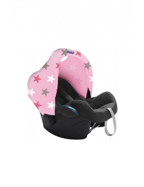 Osłonka do fotelika Pink Stars - różowa